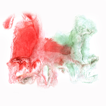 blotch: color spot green red macro blotch texture isolated white background