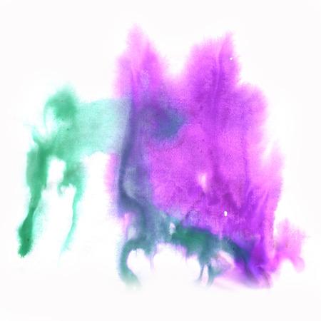blotch: color spot macro blotch purple green texture isolated white background Stock Photo