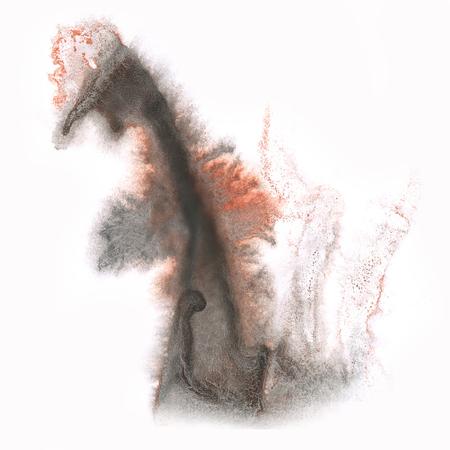 blotch: color spot macro blotch texture black Brown isolated white background