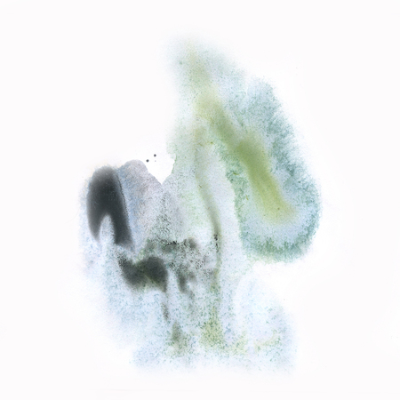 black dye: ink black blue splatter watercolour dye liquid watercolor macro spot blotch texture isolated on white background