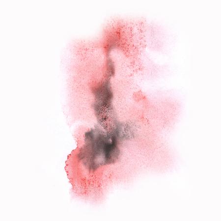 black dye: ink black red splatter watercolour dye liquid watercolor macro spot blotch texture isolated on white background