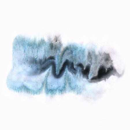 black dye: ink splatter watercolour dye liquid black blue watercolor macro spot blotch texture isolated on white background