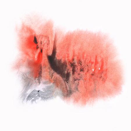 black dye: ink splatter watercolour dye liquid watercolor black red macro spot blotch texture isolated on white background