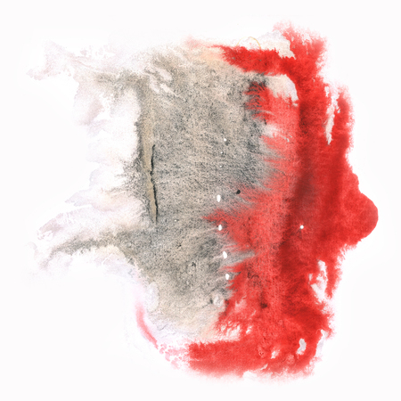 black dye: ink splatter watercolour dye liquid watercolor macro spot blotch texture black red isolated on white background