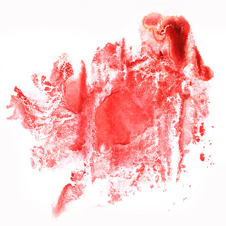 ink splatter watercolour dye liquid watercolor macro spot blotch texture isolated on red white background