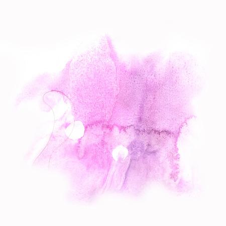 dabs: ink splatter watercolour dye purple pink liquid watercolor macro spot blotch texture isolated on white background