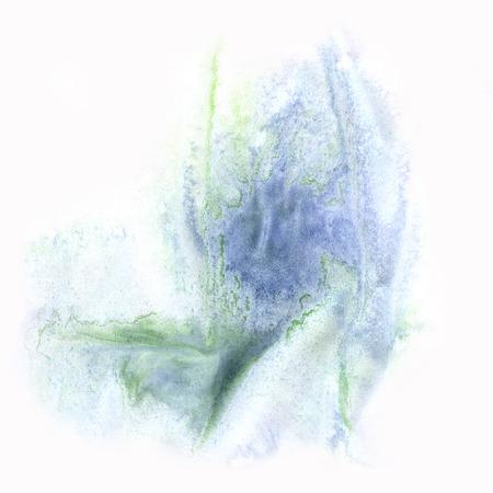 ink splatter: ink splatter watercolour green blue dye liquid watercolor macro spot blotch texture isolated on white background