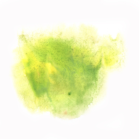 dabs: ink yellow green splatter watercolour dye liquid watercolor macro spot blotch texture isolated on white background