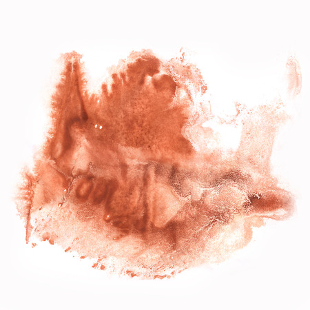 dab: paint watercolour splatter watercolors brown spot blotch isolated