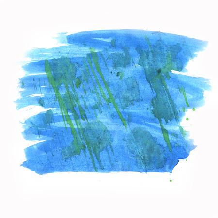 blotch: paint  watercolour splatter watercolors spot blotch blue isolated