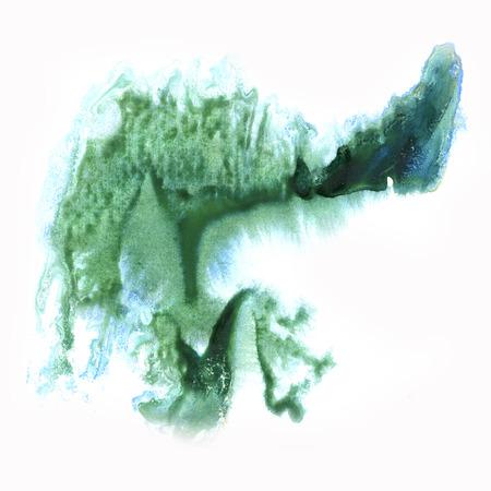 blotch: paint watercolour splatter watercolors spot blotch green isolated