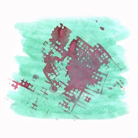 dabs: paint watercolour splatter watercolors spot purple green blotch isolated