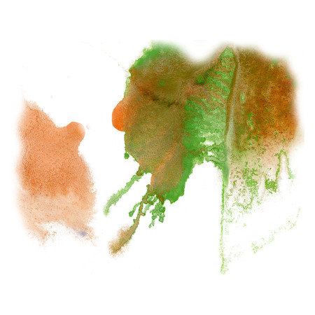 green ink: paint splash color brown green ink blue red watercolor isolated stroke splatter watercolour aquarel brush art