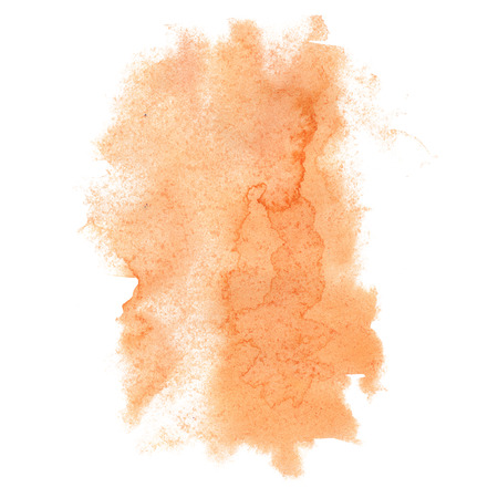 orange splash: abstract watercolor orange splash. watercolor drop isolated blot for design