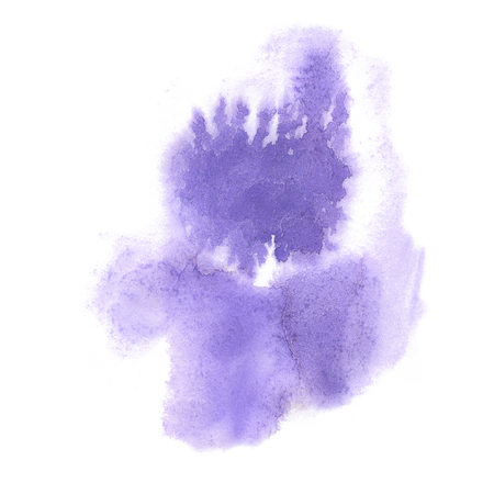 watercolor paper: watercolor splash. watercolor purple abstract drop isolated blot for design