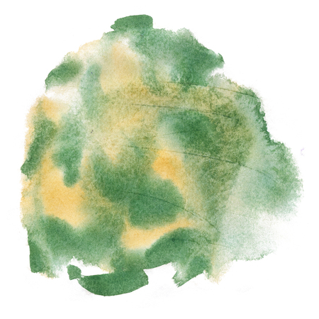 orange splash: abstract watercolor green orange splash. drop watercolor isolated blot for your design