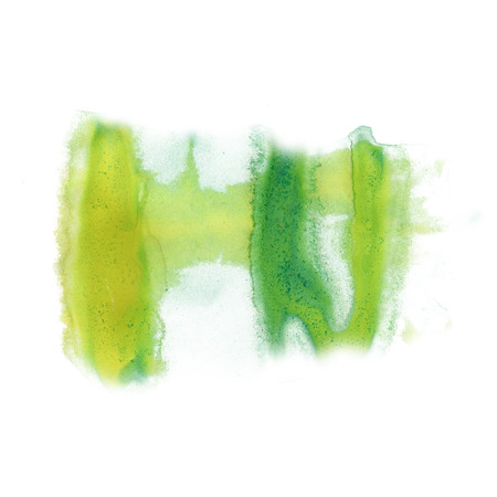 ink green splatter watercolour dye liquid watercolor macro spot blotch texture isolated white background