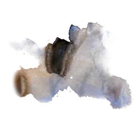 dabs: ink splatter watercolour dye liquid watercolor black blue macro spot blotch texture isolated on white