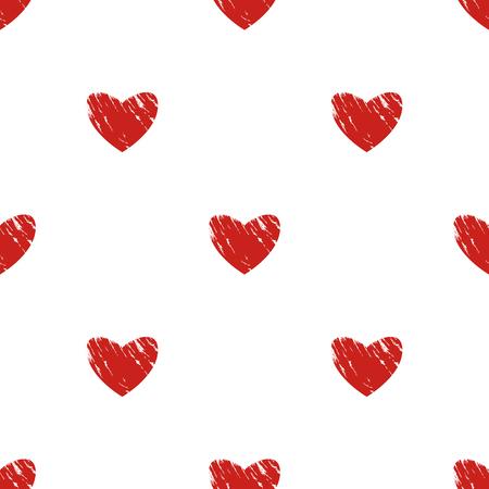 heart seamless pattern: Heart seamless pattern. Grunge background.
