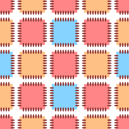 patch of light: Geometric ornament. Seamless pattern. Abstract background.