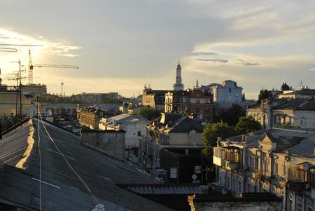 kyiv: Podil roofs. Kyiv Ukraine.