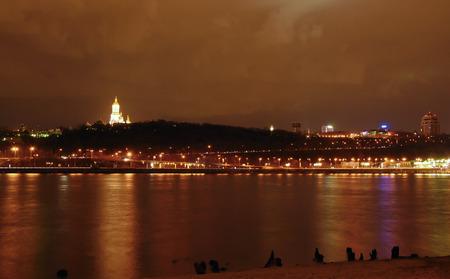 Kiev night cityscape Stock Photo