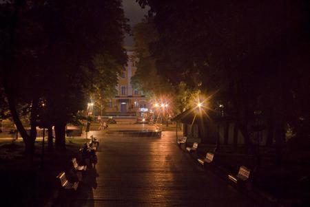 kiev: Ukraine, Kiev. Shevchenko park at night