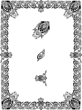 Vintage border frame, easy modify and scale with parts Vector