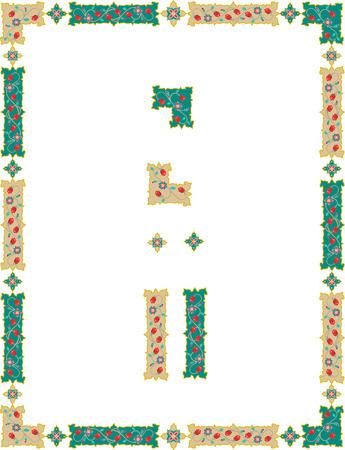 Ornamental decorative border frame Vector