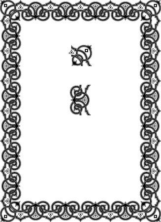 a7: Ornamental border frame Illustration