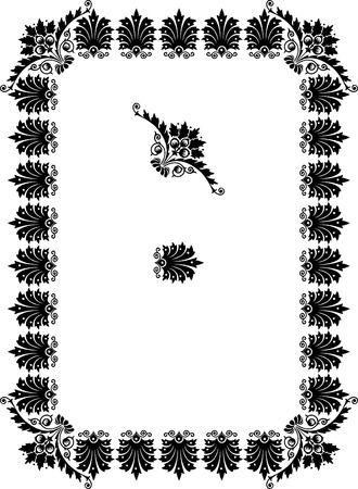 a7: Plant frame, vector thick blocks Illustration