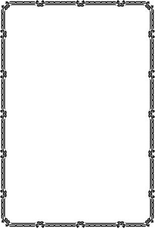 a4 borders: Marco de la frontera cl�sico, bloques delgados