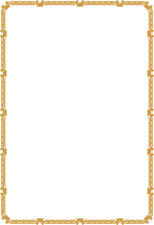 Classic border frame, thin blocks Vector
