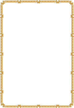 a6: Classic border frame, thin blocks
