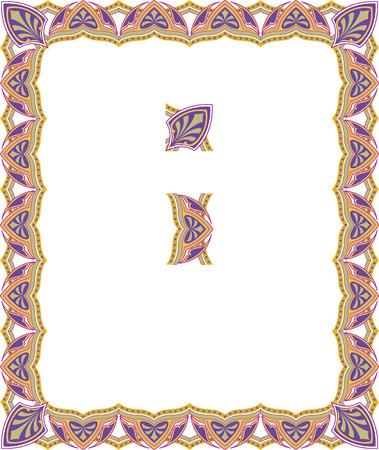 a4 borders: Decorative western old frame border