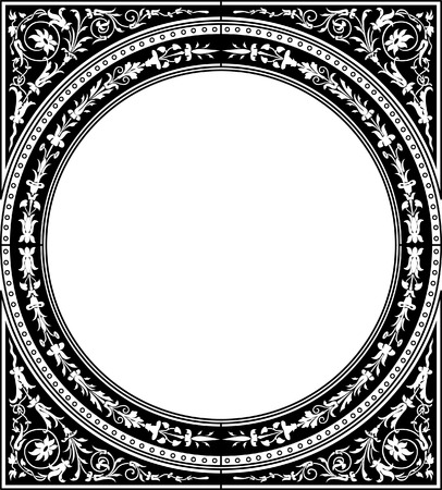 Circle decoration blank frame, square shape Vector