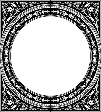 Circle decoration blank frame, square shape