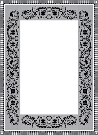 Old style vector border frame, thick Vector