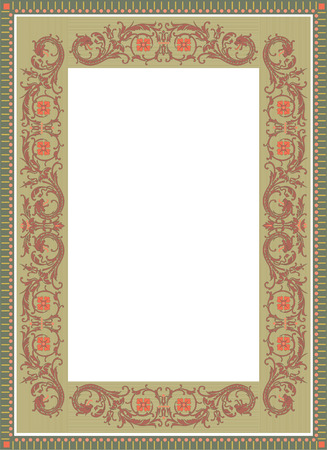 a7: Old style vector border frame, thick Illustration