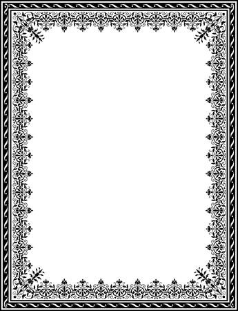 Arabesque thick frame Illustration