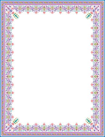 Arabesque thick frame Vector