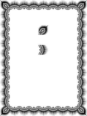 a4 borders: Bordo cornice Classic