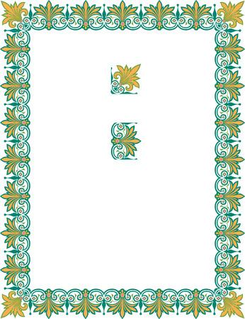 a4 borders: Marco de la frontera decorativa ornamental