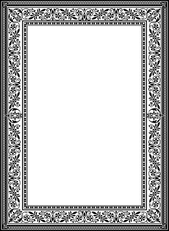 Decoratieve westelijke oude frame grens Stock Illustratie