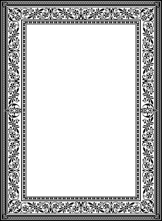 Decorative western old frame border Vector