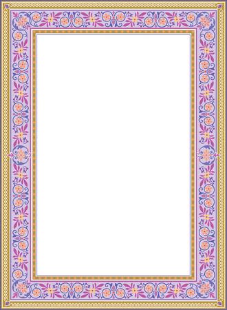 a7: Decorative western old frame border