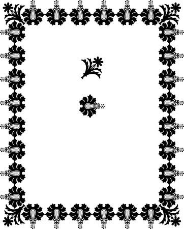 Plantendelen vector frame