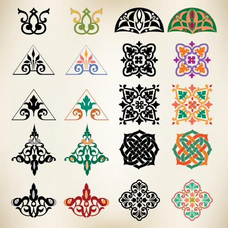 Vintage vector ornaments set Vector