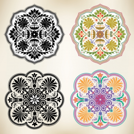Oriental style, decoration design elements Vector