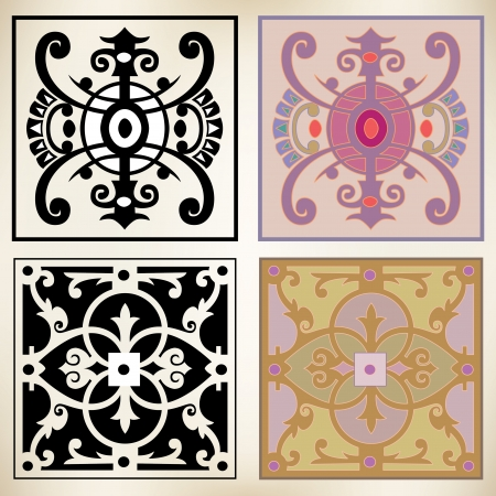 architectonic: Oriental style, decoration design elements